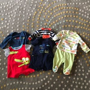 Baby boy bundle 6 pieces